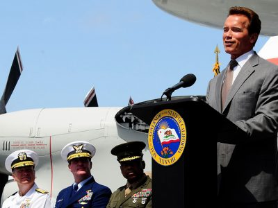 schwarzenegger speaking to army